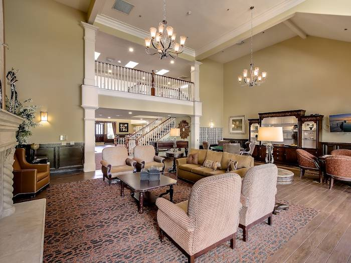 Cozy couches at Pacifica Senior Living Chino Hills in Chino Hills, CA