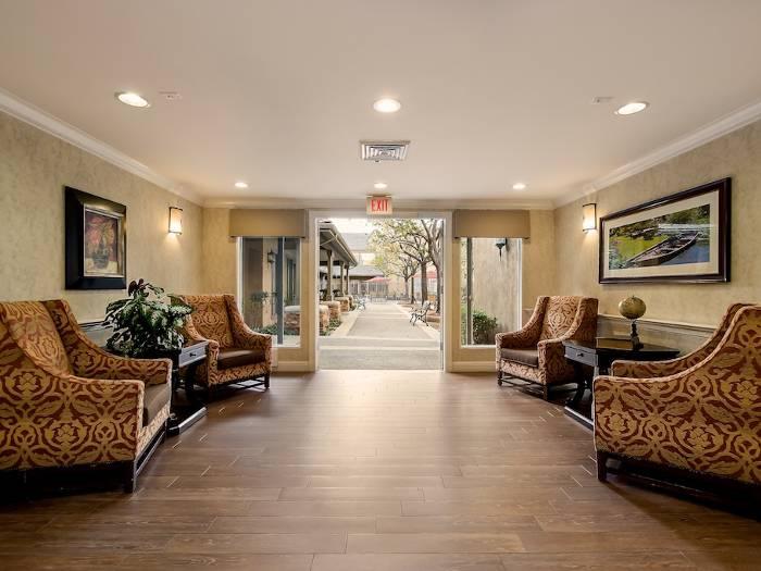 Social room at Pacifica Senior Living Chino Hills