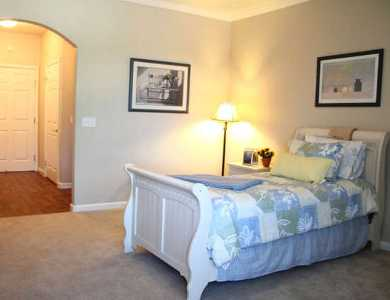 Large spacious bedrooms at Pacifica Senior Living Chino Hills
