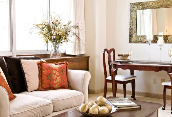 Spacious living room at Pacifica Senior Living Calaroga Terrace