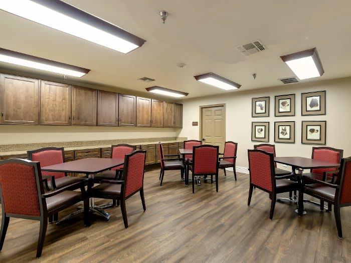 Community dining hall at NewForest Estates