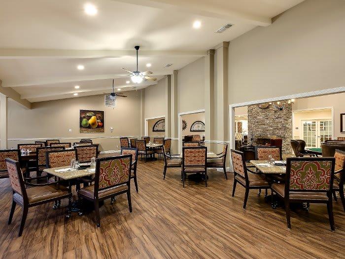NewForest Estates community dining hall at Texas