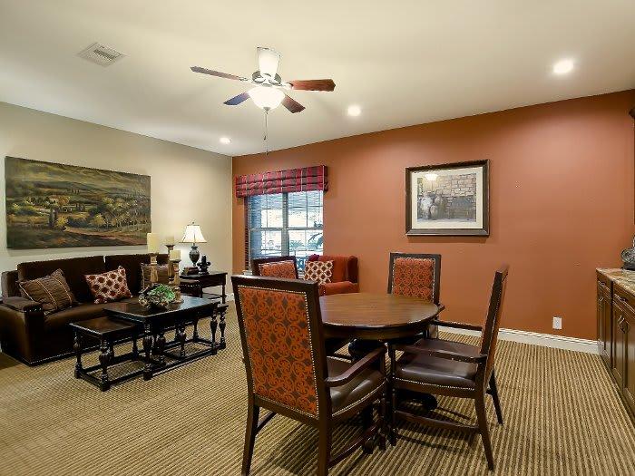 Dining table at NewForest Estates in San Antonio, TX