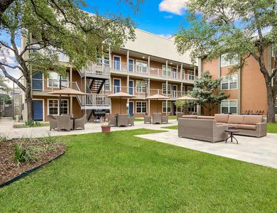 Spacious bbq area at NewForest Estates in San Antonio, TX