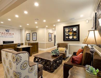 Unique living room at apartments in San Antonio, TX