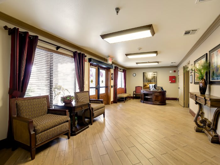 Spacious lounge at NewForest Estates in San Antonio, TX