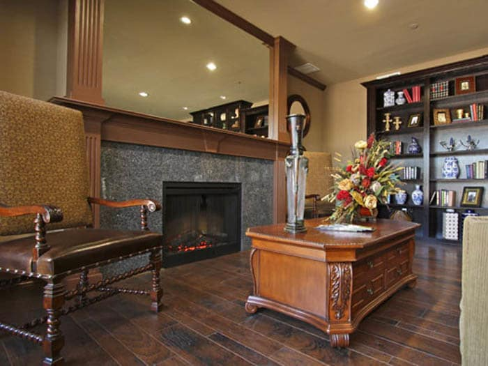 Hearth and fireplace at Meridian at Kessler Park