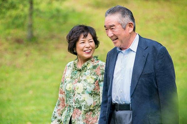 couple living at Sakura Gardens