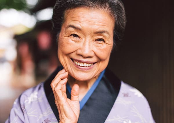 A senior resident at Sakura Gardens