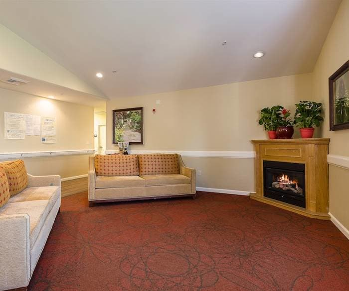 beautiful living room at Pacifica Senior Living Vacaville in Vacaville, CA