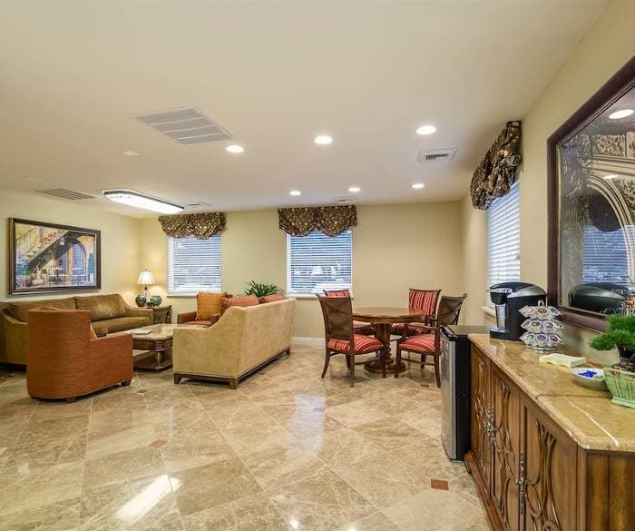Spacious living room for our senior living residents at Pacifica Senior Living Vacaville