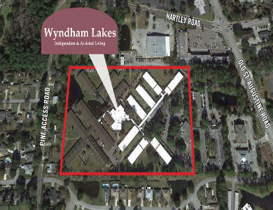 Satellite view of Wyndham Lakes