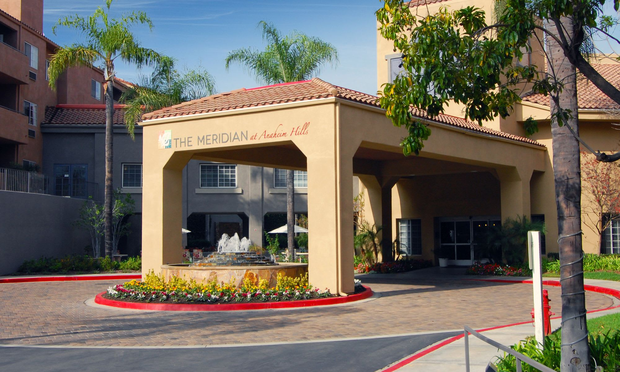The Meridian at Anaheim Hills front entrance