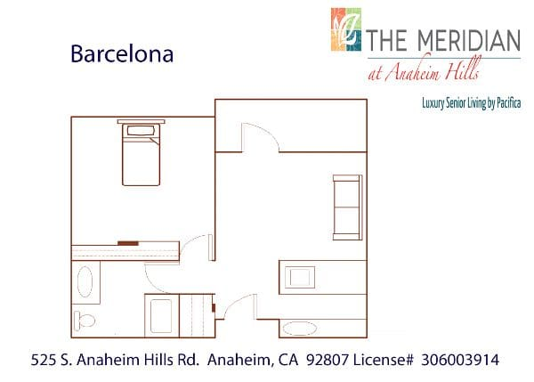 Barcelona floor plan at The Meridian at Anaheim Hills in Anaheim, CA