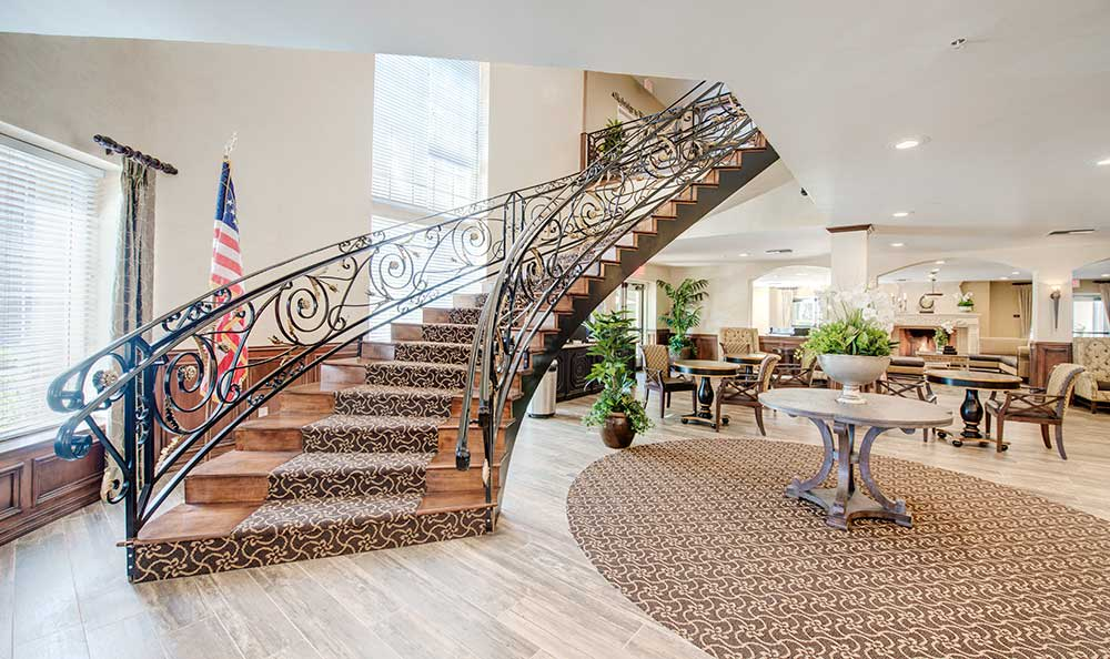 Grand staircase at The Meridian at Anaheim Hills