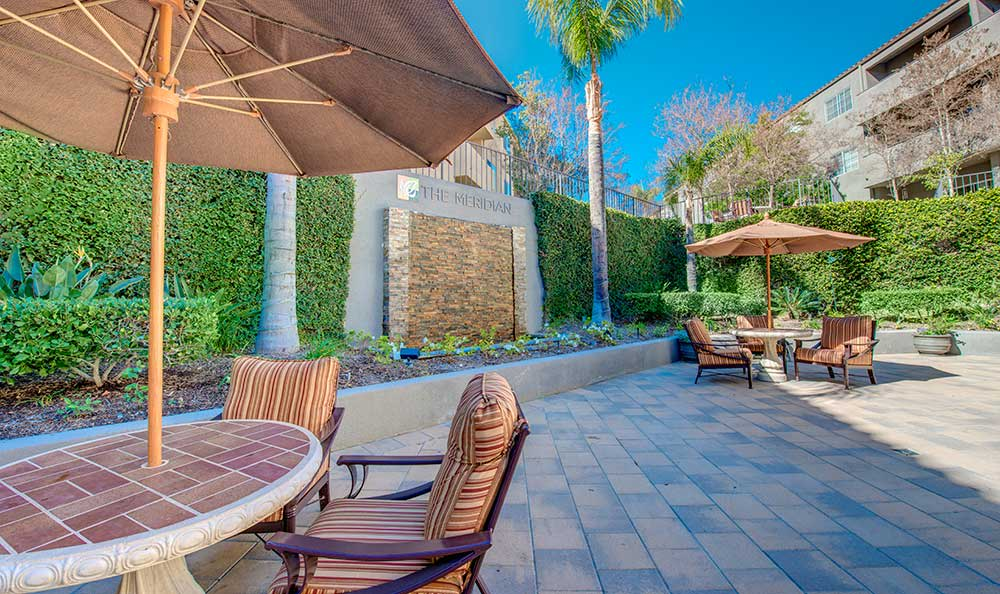 Patio at The Meridian at Anaheim Hills