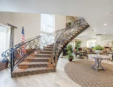 Staircase at our senior living community in Anaheim