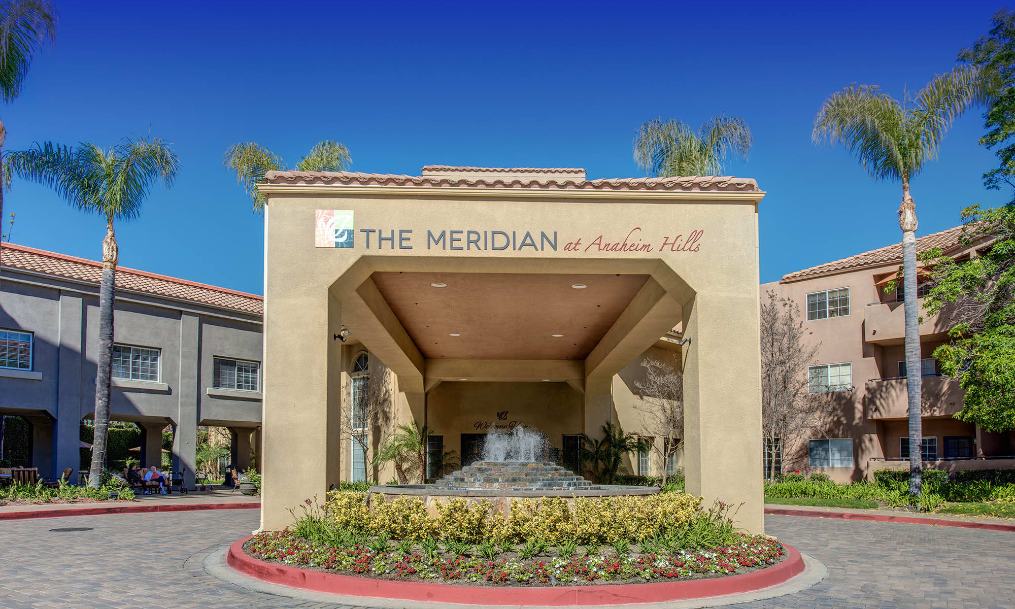 Drive-up-entrance at The Meridian at Anaheim Hills