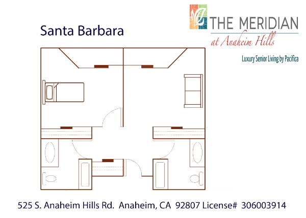 Santa Barbara floor plan at The Meridian at Anaheim Hills in Anaheim, CA