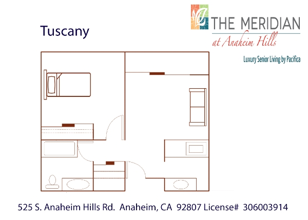 Tuscany floor plan at The Meridian at Anaheim Hills in Anaheim, CA