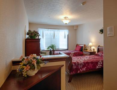 Spacious bedroom at Pacifica Senior Living Pinehurst