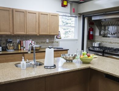 fully equipped kitchen at Pacifica Senior Living Vancouver in Vancouver, WA