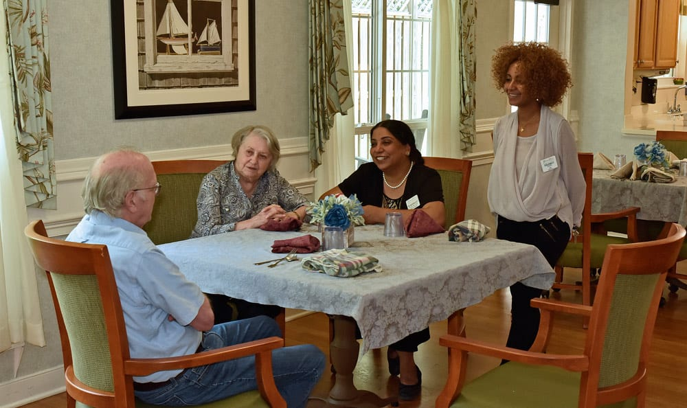 Great Falls Assisted Living features an elegant dining room