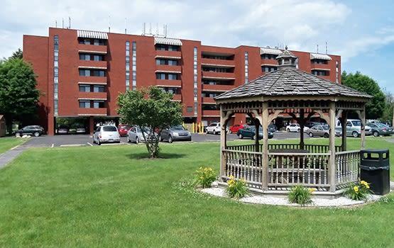 Gazebo on the beautifully landscaped Kephart Plaza grounds