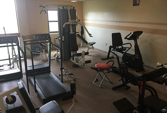 Sandy Hill Terrace fitness center