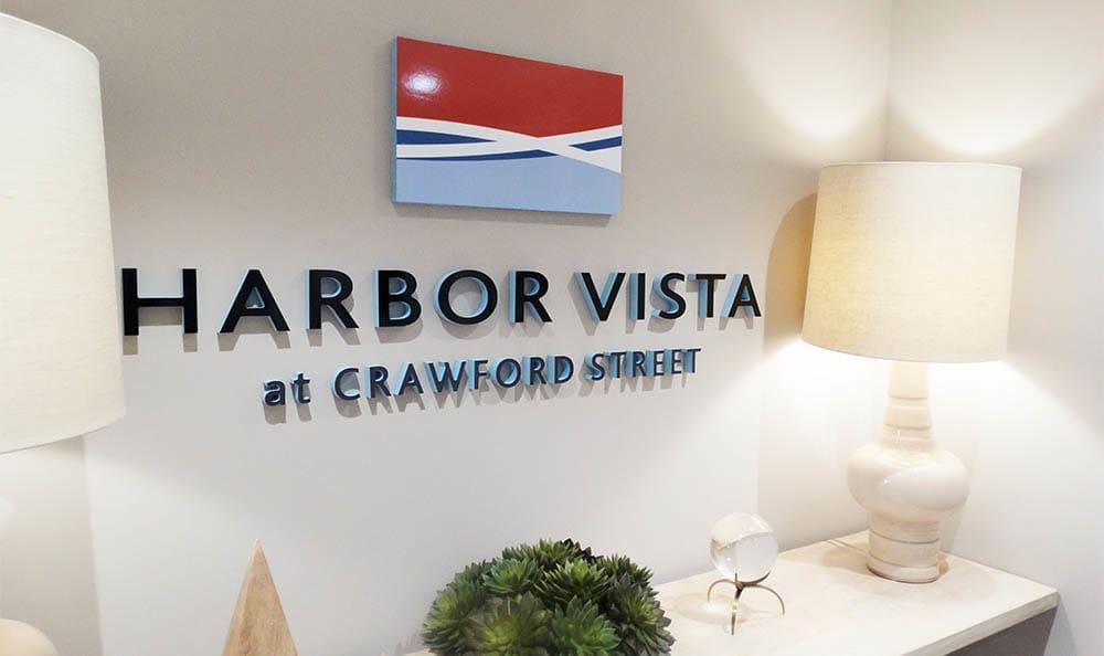 Office Sign At Harbor Vista
