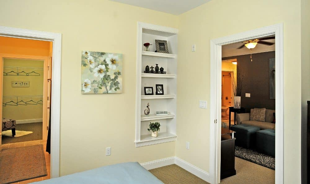 Bedroom with walk-in closet at Cambria at Cornerstone