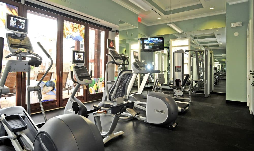 Fitness center at Cambria at Cornerstone