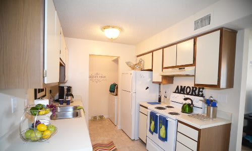 Updated kitchen at Ashbrook Apartments