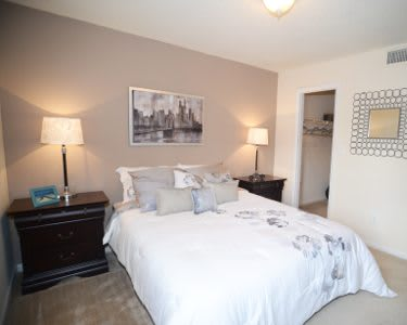 Bedroom at Ashbrook Apartments in Virginia Beach