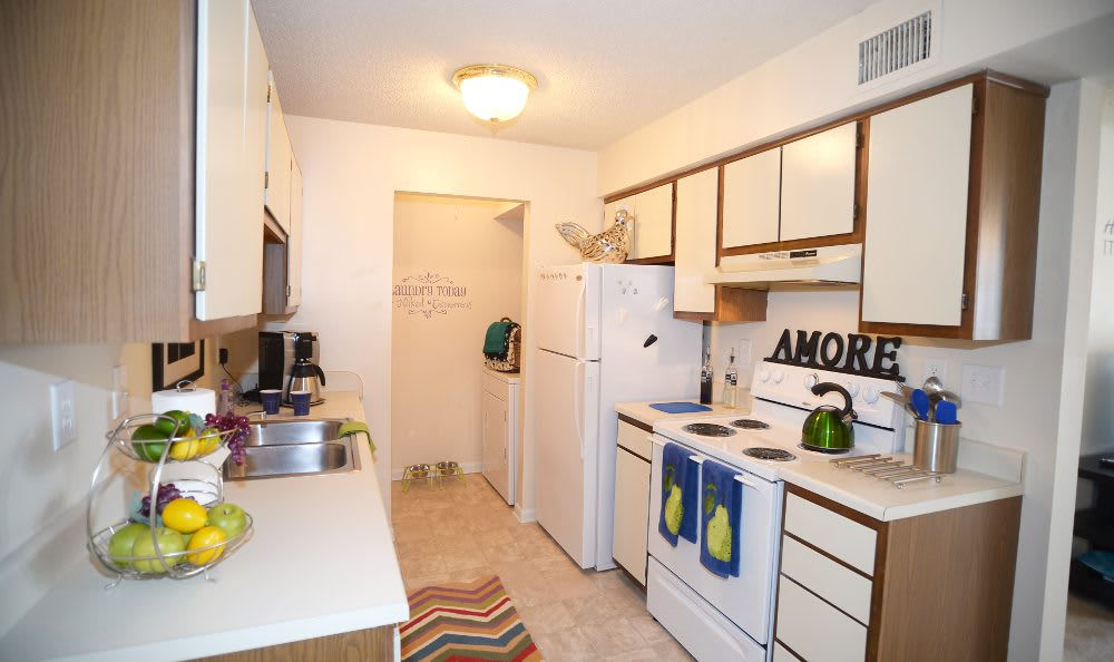 Kitchen at Ashbrook Apartments in Virginia Beach