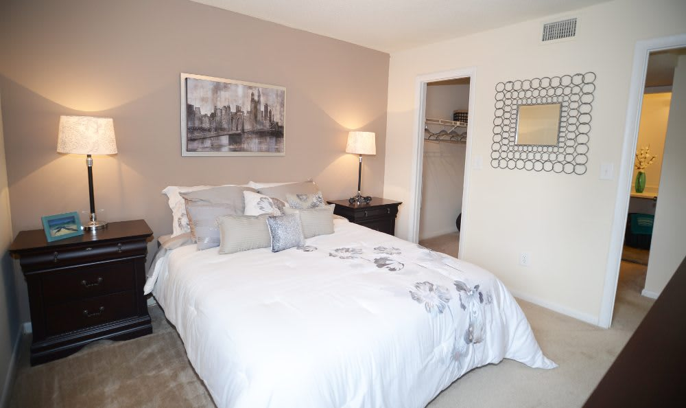 Guest bedroom at Ashbrook Apartments in Virginia Beach
