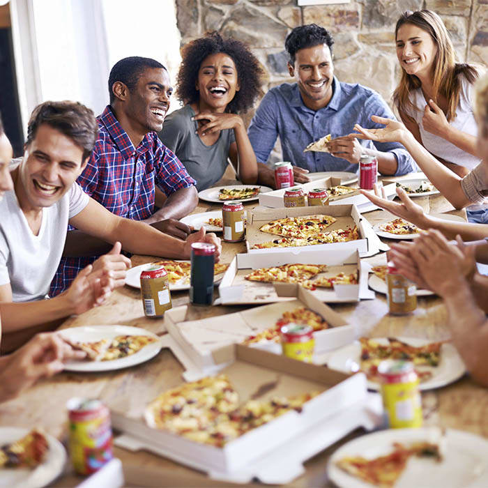 Pizza party at Ashbrook Apartments in Virginia Beach