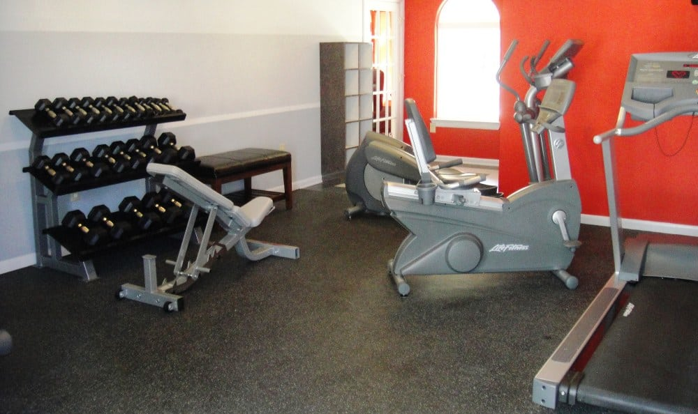 Fitness center at The Townes at Jones Run