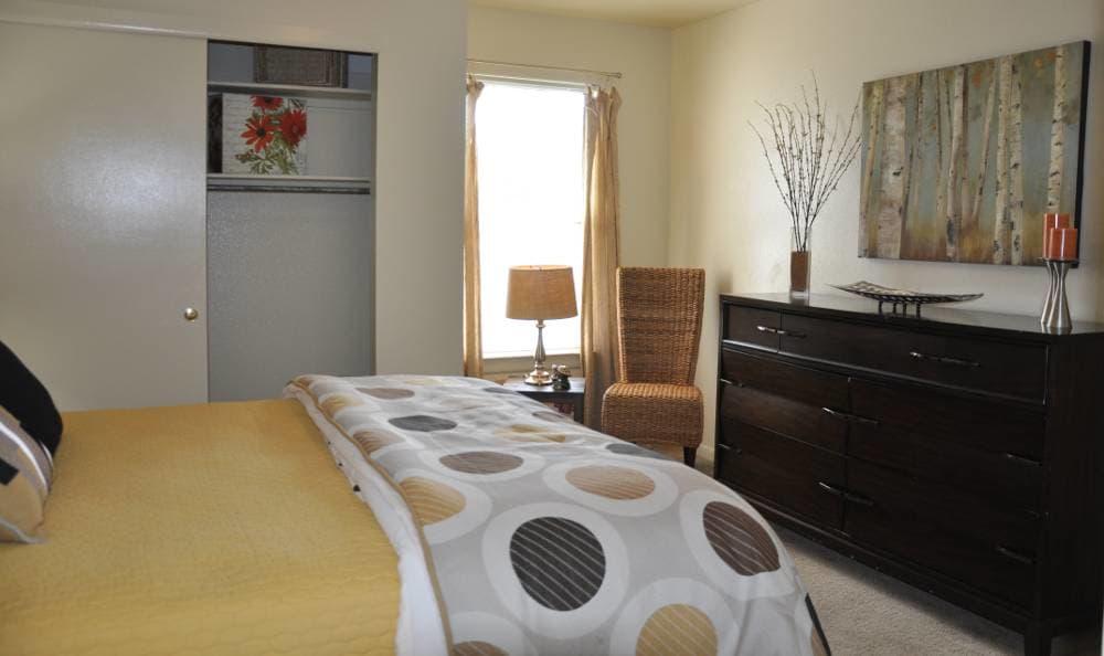 Master bedroom at The Townes at Jones Run