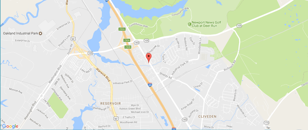 Map view of The Townes at Jones Run in Newport News