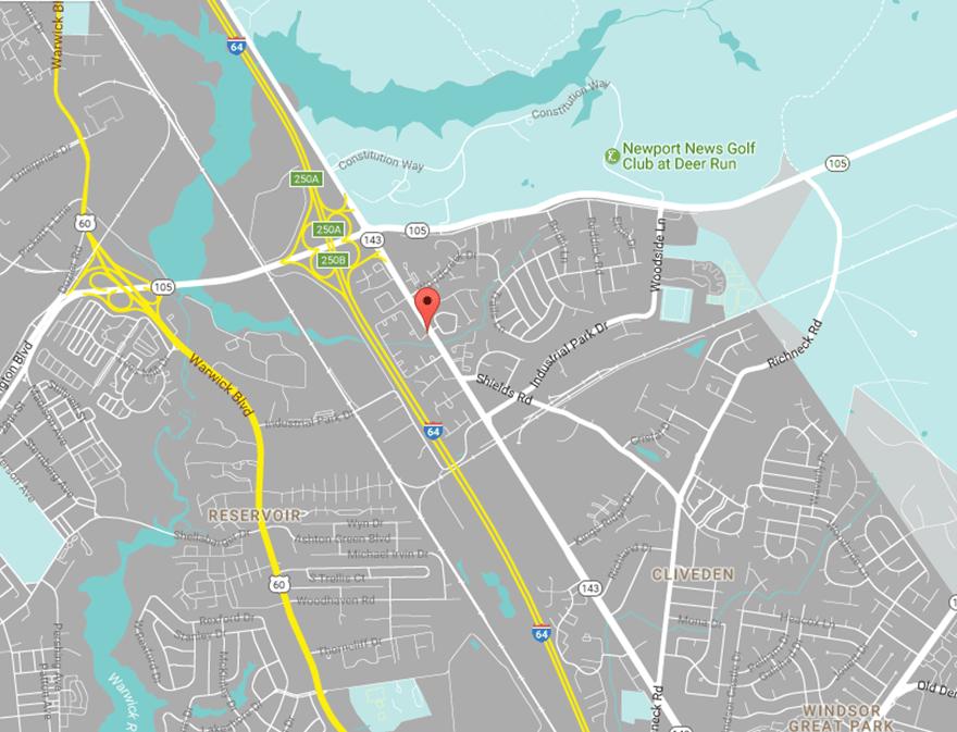 Static map of The Townes at Jones Run in Newport News