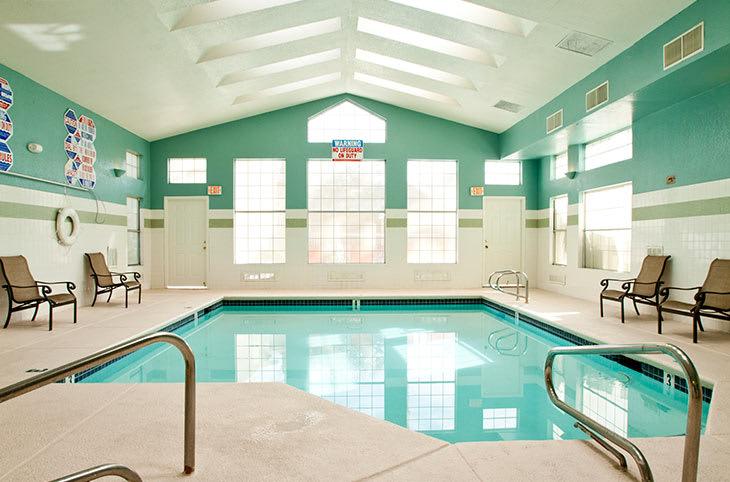 Refreshing pool at Sunrise Springs Apartments in Las Vegas, Nevada