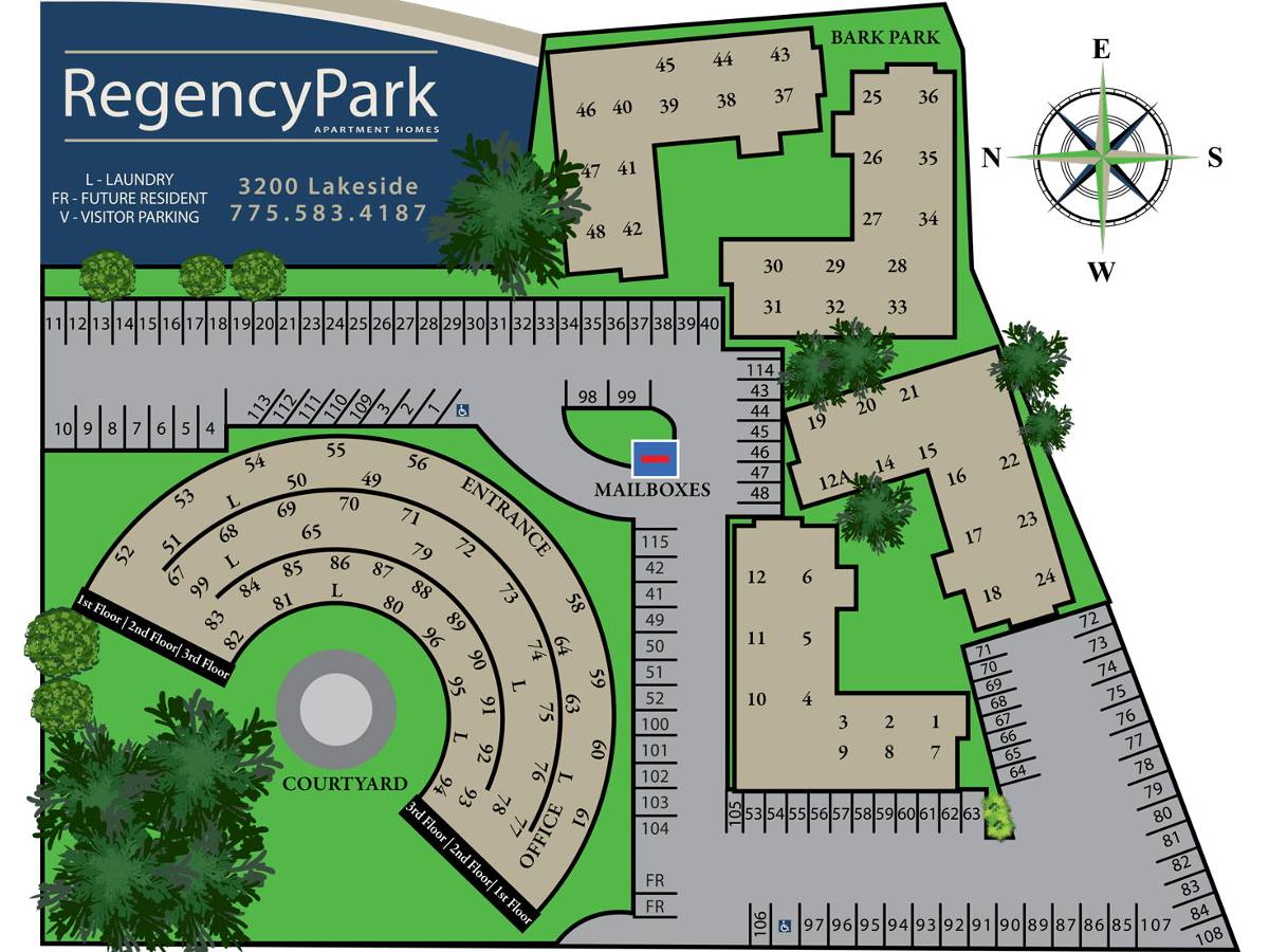 Map of Regency Park Apartments