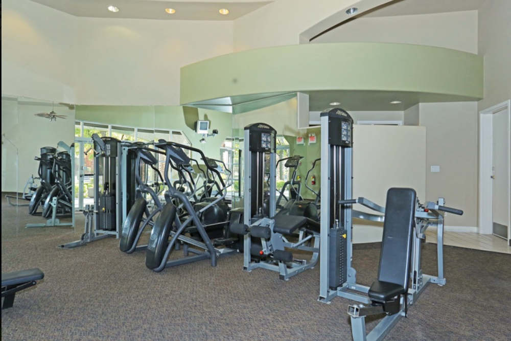 Nice fitness center at our apartments in Las Vegas.
