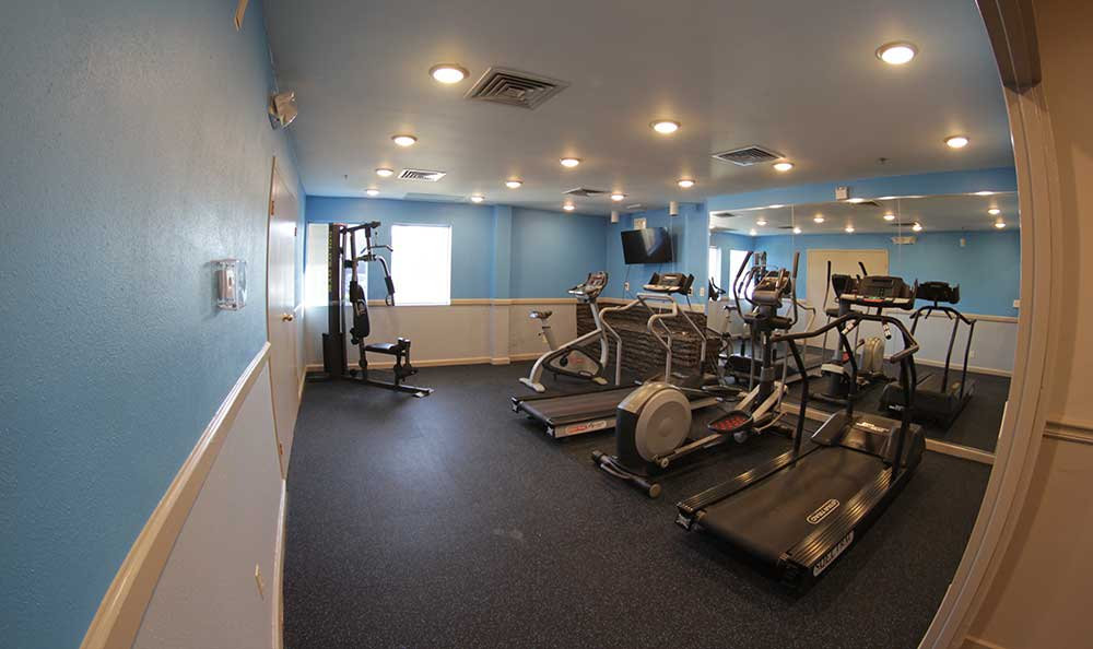 Fitness center at our apartment homes in Meriden, CT