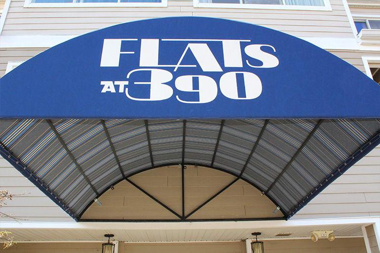 Flats at 390 awning