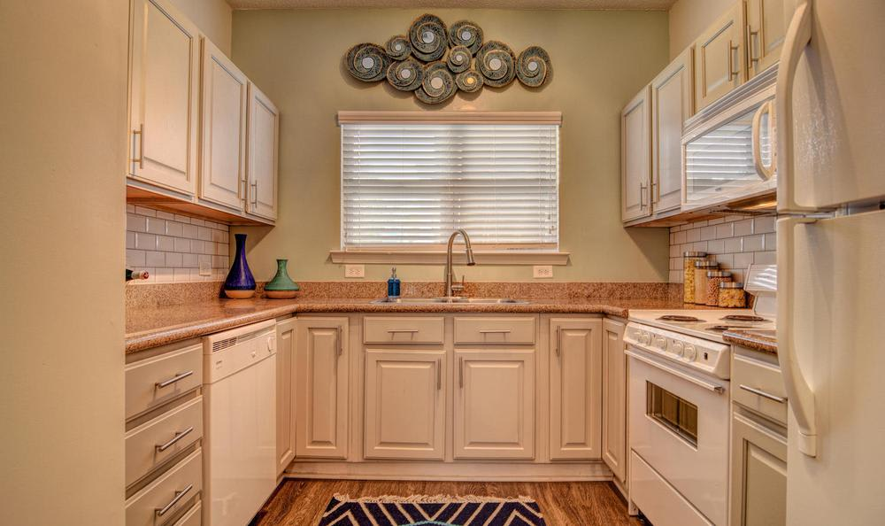 Spacious kitchen at The Park at Three Oaks in Wilmington, NC