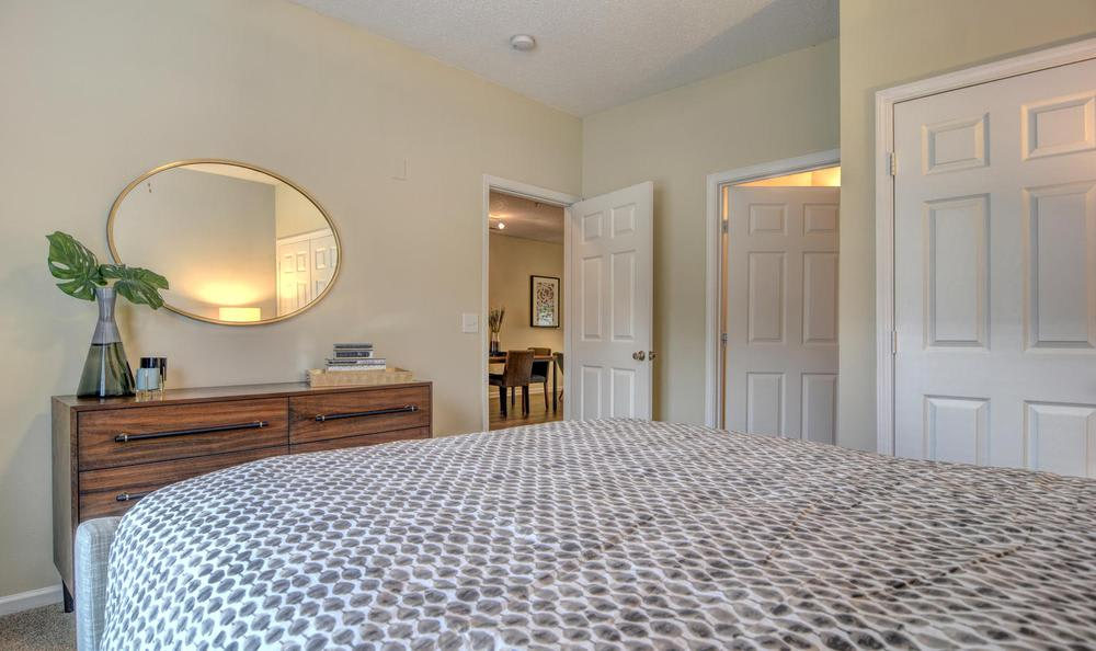The Park at Three Oaks offers a beautiful bedroom in Wilmington, NC