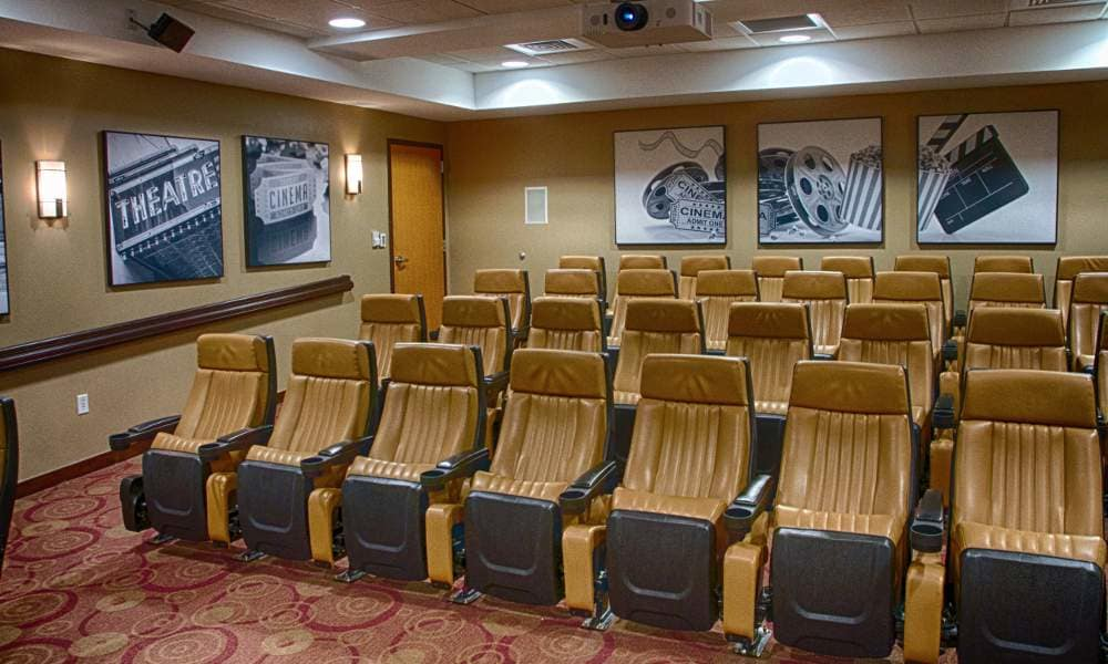 Theater at Holly Creek Retirement Community in Centennial