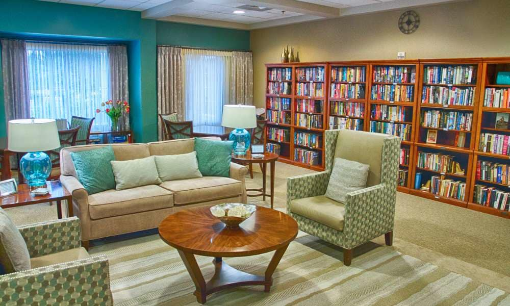 Enjoy reading a book at Holly Creek Retirement Community in Centennial